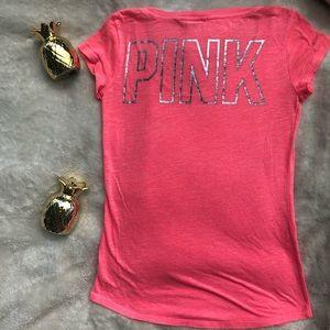 VS pink neon coral shirt
